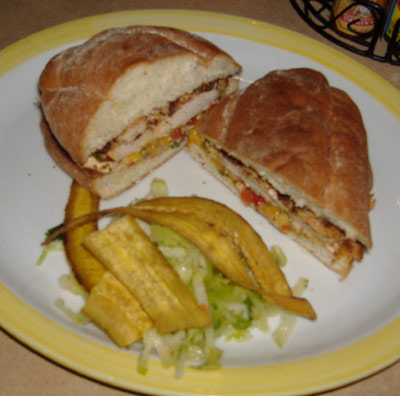 Tortilla Jo's - Mango Chicken Torta